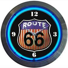 Neon Clock Historic Route 66 Mother road sign Mechanic gift wall light lamp