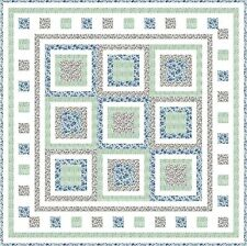 """BLOOMING FIELDS - 47"""" - Quilt-Addicts Pre-cut Patchwork Quilt Kit Lap"""
