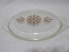 Pyrex Red Golden Poinsettia 2.5 Qt Promo Oval Casserole Lid ONLY