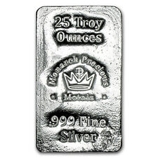 25 oz Silver Bar - Monarch Precious Metals - SKU #103131