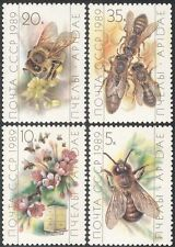 Russia 1989 Honey Bees/Insects/Nature/Flowers/Bee Keeping/Food 4v set (b648)