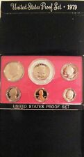 1979 S Proof Set Original Box 6 Coins SBA Type 1 Kennedy US Mint Coin