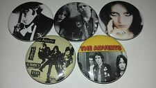 5 The Adverts Pin Button badges Gary Gilmore's Eyes One Chord Wonders