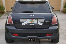Mini Cooper S R56 Trunk Graphic - Black Grey White English Flag Decal