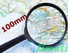 1 BIG 100mm Magnifier Hand Held Magnifying Glass MAP NEWSPAPER BOOK READING