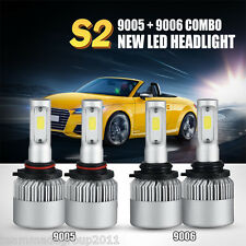 9005 9006 4PCS LED 320W 32000LM Combo Headlight High 6000K-6500K White Kit Bulbs