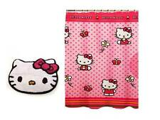 Hello Kitty - By Sanrio - Fabric Shower Curtain and Coordinating Bath Rug