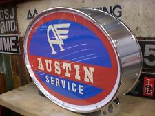 Austin,morris,a35,a40,vintage,old,j,classic,mancave,lightup sign,garage,workshop