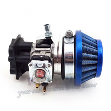 15mm Carburetor Air Filter Alloy Stack Manifold For 43 49 50 52 cc Gas Scooter