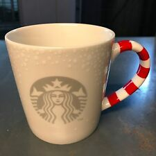 Starbucks Christmas Europe 2016 Logo* CANDY CANE Mug Cup Xmas 12oz- New!