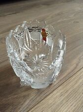 Decorative Anne Hutte Bleikristall Lead Crystal 4 Footed Oval Bowl