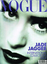 VOGUE UK 09/1990 JADE JAGGER Helena Christensen ROBERTA CHIRKO STEPHANIE SEYMOUR
