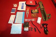FIRST AID SURVIVAL GEAR COMPASS KNIFE LED MULTI TOOL HUNTING MILITARY EDC CAMP