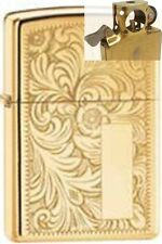 Zippo 352b venetian hp brass Lighter with PIPE INSERT PL