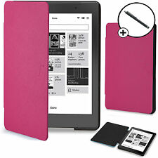 Forefront Cases® Pink Shell Smart Case Cover Kobo Aura Edition 2 Stylus