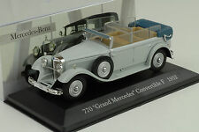 Mercedes-benz 770 Grand convertible f w07 1932 gris 1:43 Ixo Altaya Collection