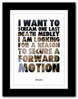 ❤ BIFFY CLYRO That Golden Rule 2 ❤ song words poster art  print - A1 A2 A3 or A4