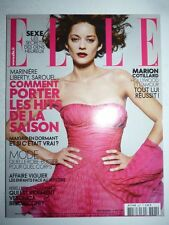 Magazine mode fashion ELLE French #3307 16 mai 2009 Marion Cotillard