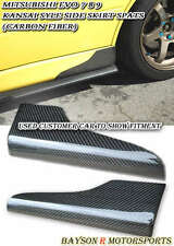 K-Style Side Skirts Rear Spats (Carbon) Fits 01-07 Mitsubishi EVO 7 8 9