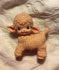 Vintage 1955 Sun Rubber Company Squeaky Lamb Toy