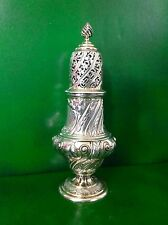 Large Ornate Victorian Antique English Sterling Silver Sugar Caster Shaker 1886
