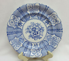 "Joseph Heath & Co. England 1828 - 1841 ""Amaryllis"" Blue Transfer Plate ~ 9 1/4"""