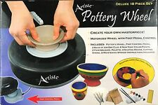 Artiste Pottery Wheel With Foot Pedal Deluxe 18-Piece Set EUC