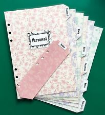 Filofax A5 Organiser Planner - Pretty Dividers Diary, Notes, Contacts Laminated
