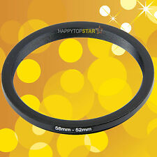 58mm to 52mm 58-52 mm Female to Male Step-Down Lens Filter Coupling Ring Adapter
