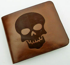 SKULL LEATHER EMBOSSED WALLET
