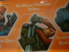 Corvus Belli Infinity 9th Wulver Grenadiers T2 Rifle Ariadna metal new