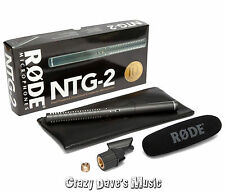 RODE NTG-2 Dual Powered Directional Condenser Shotgun Microphone NTG2 Mic