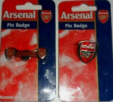 Arsenal  x 2 Licensed Crested  Carded Enamel Pin Badges  MINT ON CARD