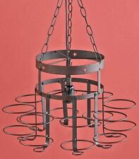 Rustic Wrought Iron Mason Jar Chandelier Canning Jar Light Country Home Decor