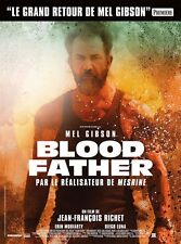 Affiche 40x60cm BLOOD FATHER (2016) Mel Gibson, Erin Moriarty, Luna TB