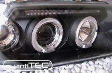 ANGEL EYES CLEAR GLASS DE HEADLIGHT FÜR AUDI 80 B4 S2 RS2 BLACK NEW