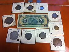 Foreign Coin Great Britain Switzerland France Haiti paper Currency Lot + more