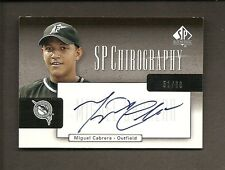 "2004 SP AUTHENTIC CHIROGRAPHY MIGUEL CABRERA ""ON CARD"" AUTO #51/60"
