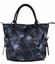 Iron Fist Urban Decay Black Tote Bag Skull Art Punk Skater Tattoo Handbag Purse