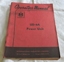 IH Manual for UD-9A Power Unit - C2818