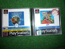 2 PS1 PLAYSTATION 1 SIM SIMULATOR GAMES THEME PARK WORLD +POPULOUS THE BEGINNING