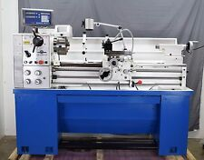 "PM1440E-LB METAL WORKING LATHE, 2"" SPINDLE BORE 2-AXIS DRO INSTALLED QCTP"