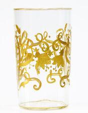 Jugendstil Wasserglas Becher Fuchsien Josephinenhütte 1900  Dekor de Maess