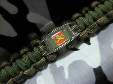 "U.S. Army 10th Field Artillery Regiment ""The Rock's Support"" Paracord Key Fob"
