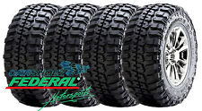 4 NEW 37 12.50 18 FEDERAL COURAGIA MT 123Q E/10 PLY TIRES LT37X12.50R18 37125018