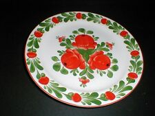 "Hungarian Pottery Budapest HSZ Applied Arts Company Red Tomato 8"" Plate (loc-X15"