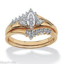 WEDDING ENGAGEMENT RING SET 10K GOLD DIAMOND  MARQUISE SIZE 6 7  8 9 10