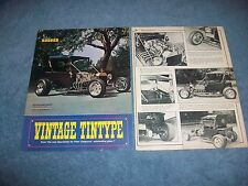 "1923 Ford Model T Bucket Roadster Vintage Article ""Vintage Tintype"""