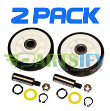 2 PACK - NEW 12001541 DRYER SUPPORT ROLLER WHEEL KIT FOR MAYTAG AMANA WHIRLPOOL