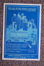 Beatles Concert Tour Poster Yellow Sub (Blue Verion)